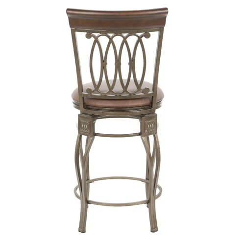 """Hillsdale Furniture Easy Assembly Montello 24"""" Swivel Counter Stool"""