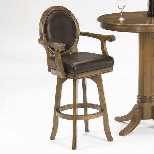 hillsdale warrington swivel bar stool with cushion. Black Bedroom Furniture Sets. Home Design Ideas