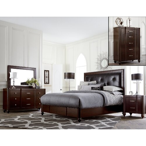 hillsdale roma panel 5 piece bedroom collection reviews wayfair