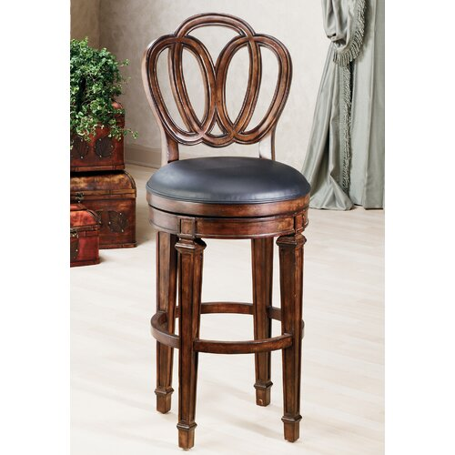 "Hillsdale Furniture Dover 24"" Swivel Bar Stool with Cushion"