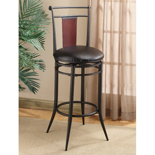"""Hillsdale Furniture Midtown 30"""" Swivel Bar Stool with Cushion"""