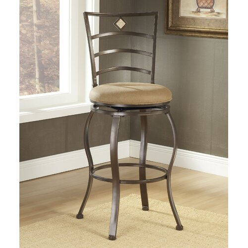 "Hillsdale Furniture Marin 24"" Swivel Bar Stool with Cushion"