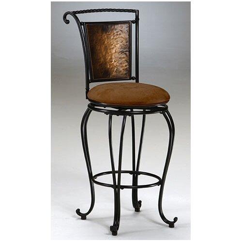 "Hillsdale Furniture Milan 30"" Swivel Bar Stool with Cushion"
