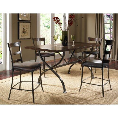 """Hillsdale Furniture Cameron Ladderback Non Swivel 26"""" Counter Stool"""