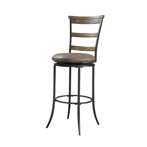 "Hillsdale Furniture Charleston 30"" Swivel Bar Stool with Cushion"