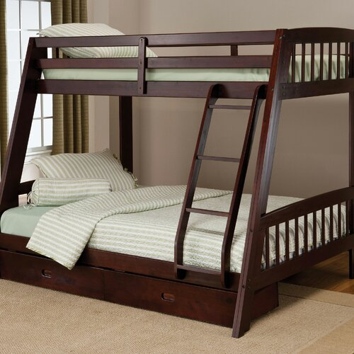 Hillsdale Rockdale Twin Over Full Bunk Bed With Built In