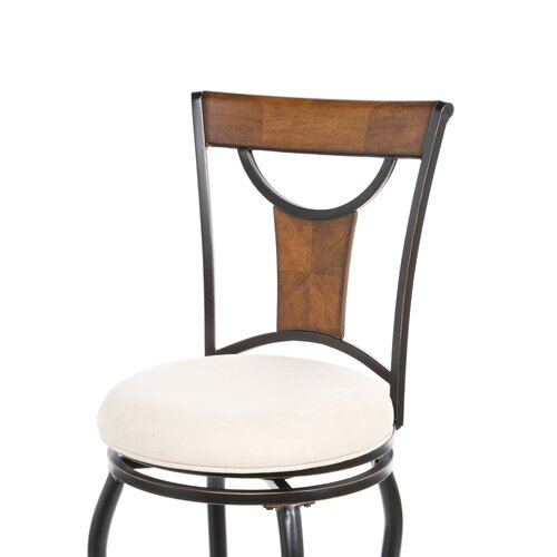 "Hillsdale Furniture Pacifico 30"" Swivel Bar Stool with Cushion"