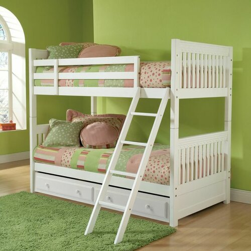 Hillsdale Lauren Twin Over Twin Bunk Bed With Trundle