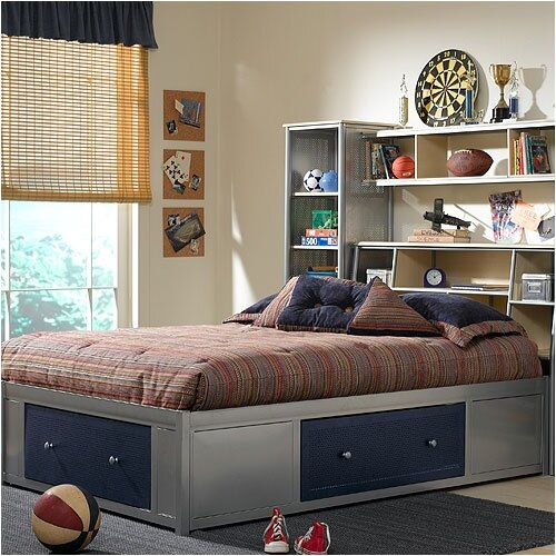 Hillsdale Furniture Universal Youth Storage Platform Bed with Bookcase Headboard