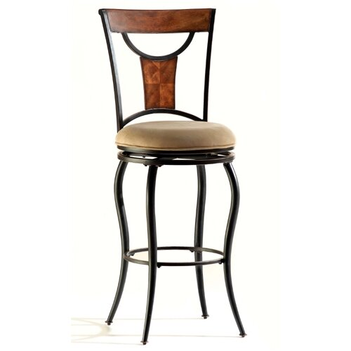 """Hillsdale Furniture Pacifico 26"""" Swivel Bar Stool with Cushion"""