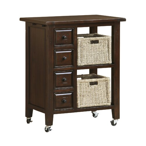 Tuscan Retreat Kitchen Cart with Wood Top