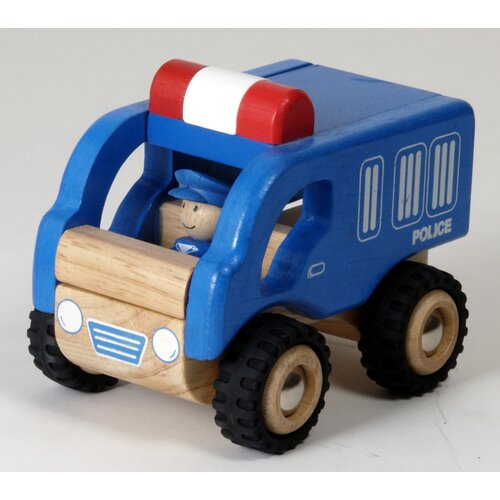 Mini Police Car Wooden Vehicle Truck