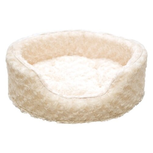PAW Snuggle Round Fur Bolster Dog Bed