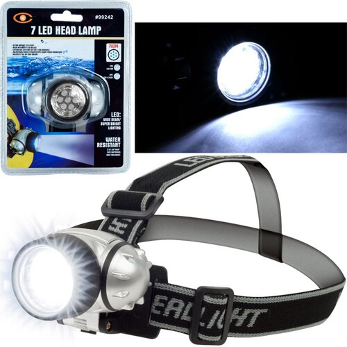 Trademark Tools 7 LED Headlamp with Adjustable Strap