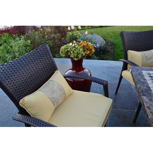 Outdoor Innovation South Beach 7 Piece Fire-Dining Set