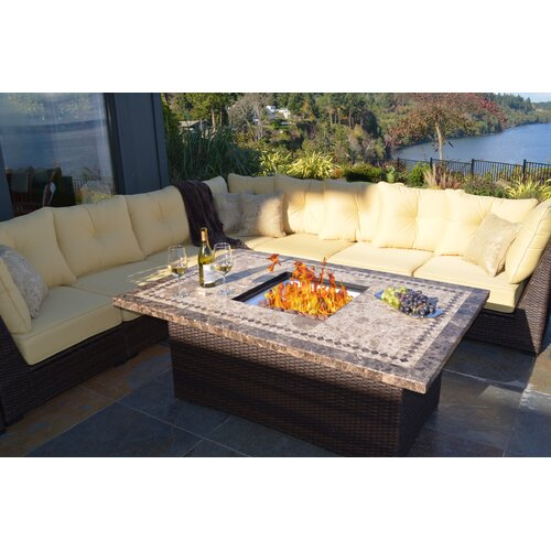 Outdoor Innovation South Beach 12 Piece Deep Seating Group with Cushion