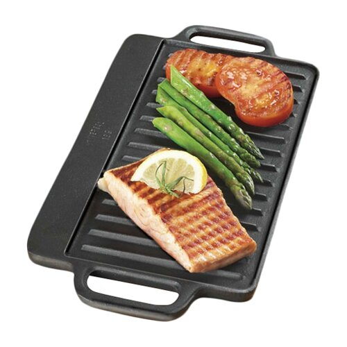"Universal Housewares Pre-Seasoned 12.75"" Reversible Grill Pan and Griddle"