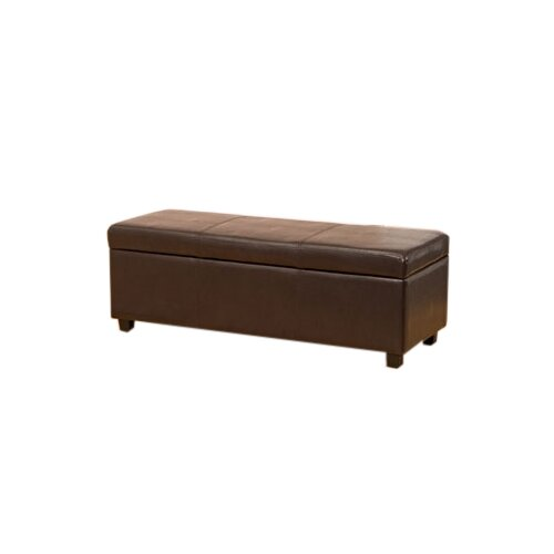 Global Furniture Direct Leather Bedroom Storage Bench