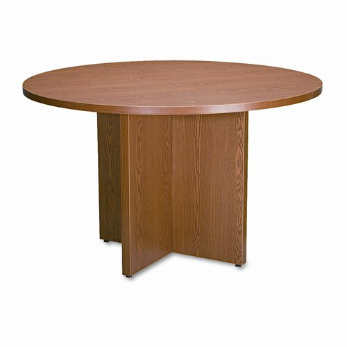 "Basyx by HON Round Conference Table Top, 48"" Diameter, Medium Oak"
