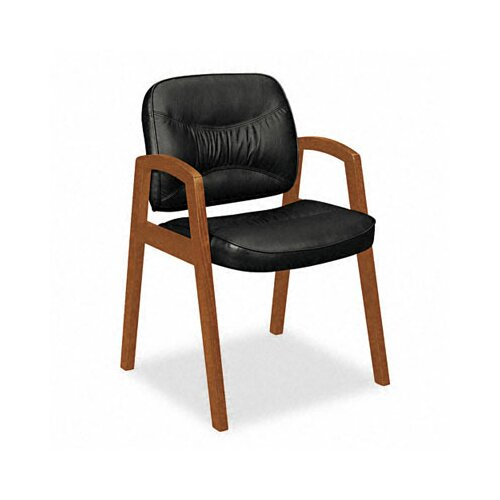 Basyx by HON Guest Chair with Leather Back