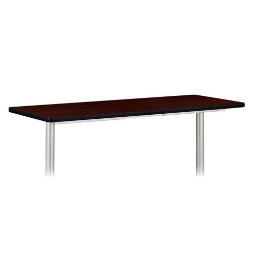 Basyx by HON Rectangular Tabletop, No Grommets, Mahogany