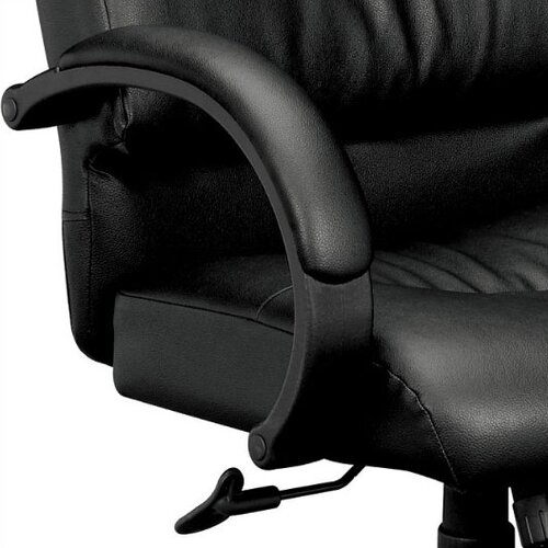 Basyx by HON Leather Office Chair with Padded Arms
