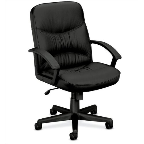 Basyx by HON Leather Office Chair with Loop Arms