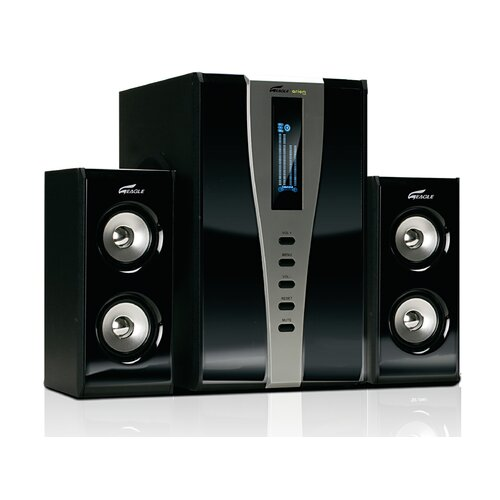 Eagle Tech 2.1 Soundstage Speaker System with Subwoofer and Remote