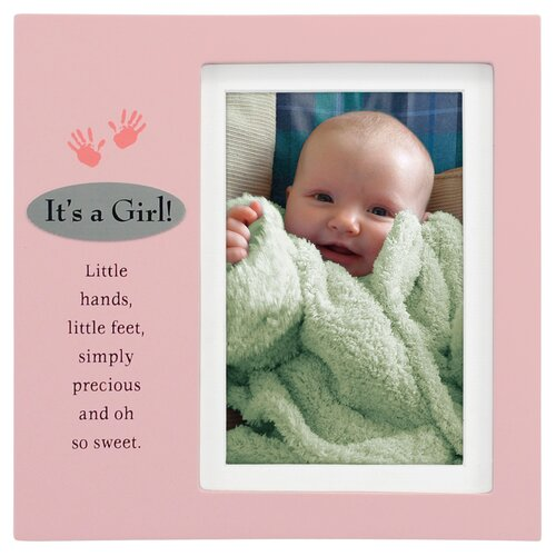 It's A Girl Plaque Picture Frame