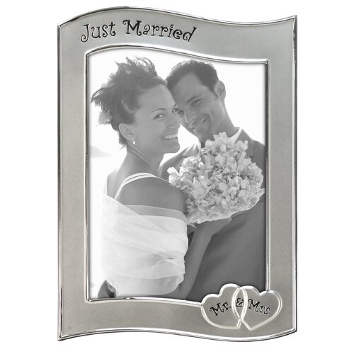 Just Married Stamping Picture Frame
