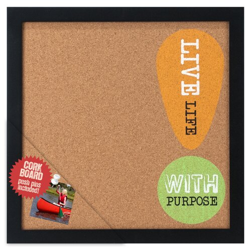 "Malden Live Life with Purpose 1' 0.5"" x 1' 0.75"" Memo Board"