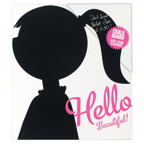 "Malden Hello Beautiful! 1' 1"" x 11.5"" Chalkboard"