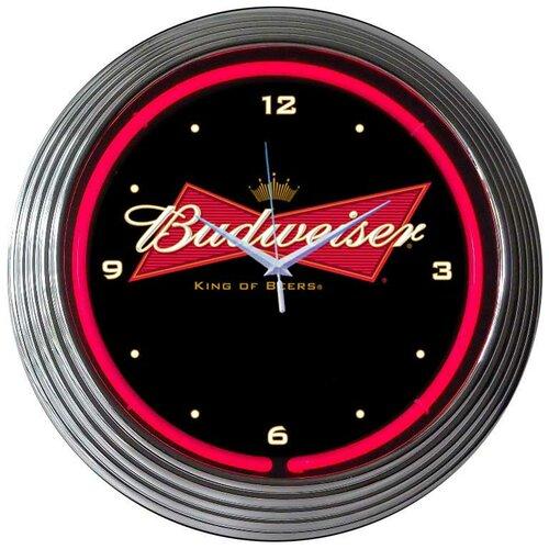 """Neonetics 15"""" Budweiser Bowtie Wall Clock"""
