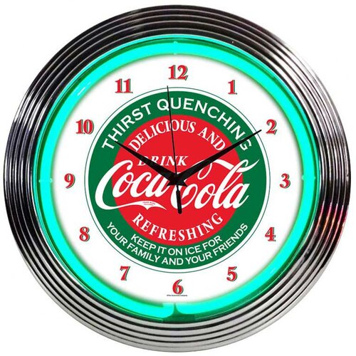 "Neonetics Drinks 15"" Coca Cola Wall Clock"