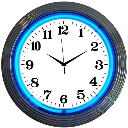 "Neonetics Bar and Game Room 15"" Wall Clock"