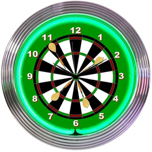 "Neonetics 15"" Darts Wall Clock"