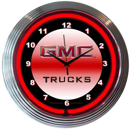 "Neonetics Bar and Game Room 15"" RGMC Trucks Wall Clock"