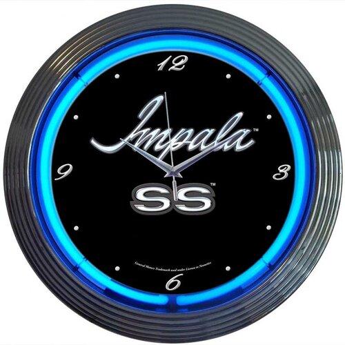 "Neonetics Cars and Motorcycles 15"" Impala Wall Clock"