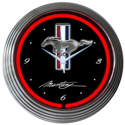 "Neonetics 15"" Mustang Wall Clock"
