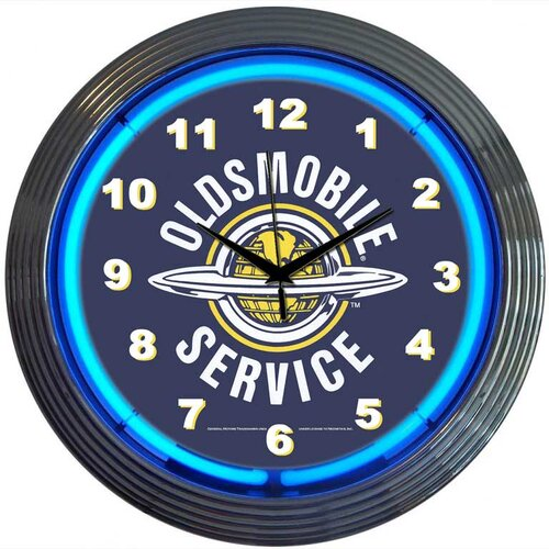 "Neonetics Cars and Motorcycles 15"" Oldsmobile Service Wall Clock"