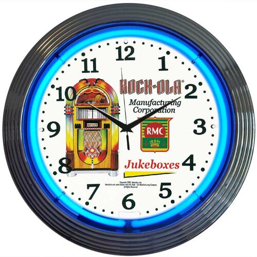 "Neonetics Retro 15"" Rock-Ola Wall Clock"