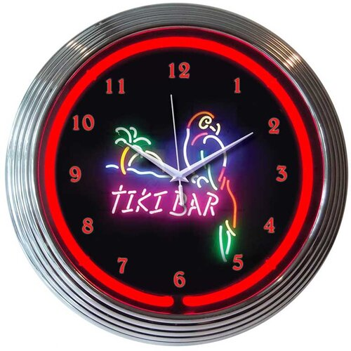 "Neonetics 15"" Tiki Bar Wall Clock"