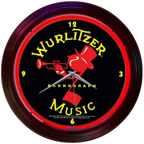 "Neonetics Retro 15"" Wurlitzer Wall Clock"