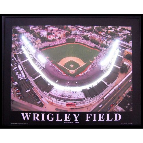 Neonetics Wrigley Field Neon LED Framed Photographic Print