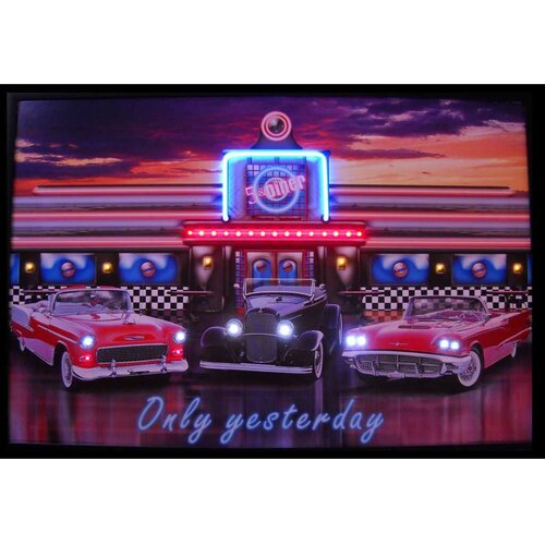 Only Yesterday Neon LED Framed Vintage Advertisement