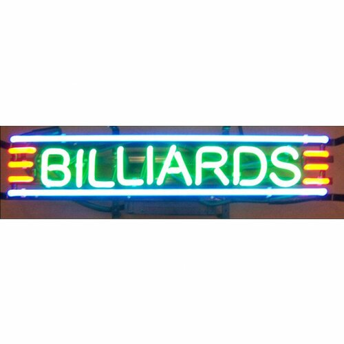Neonetics Business Signs BILLIARDS Neon Big Sign