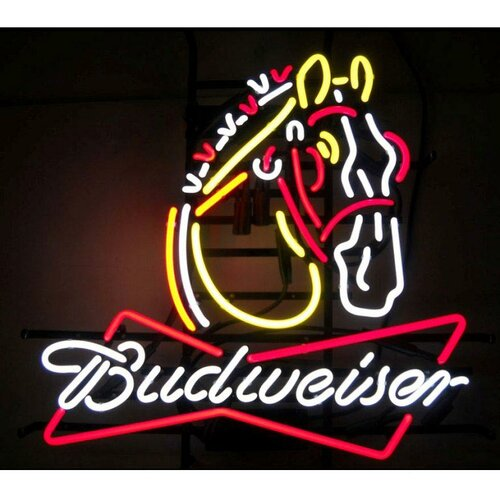 Neonetics Business Signs Budweiser Clydesdale Neon Sign