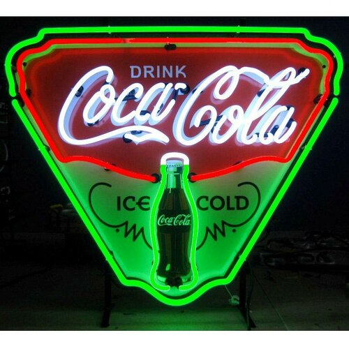 Neonetics Coca-Cola Ice Cold Shield Neon Sign