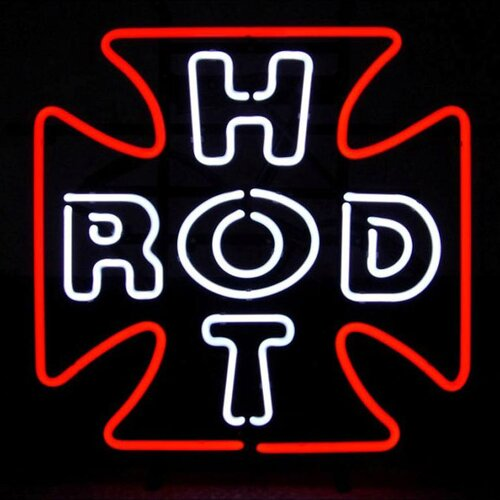 Neonetics Hot Rod Cross Neon Sign