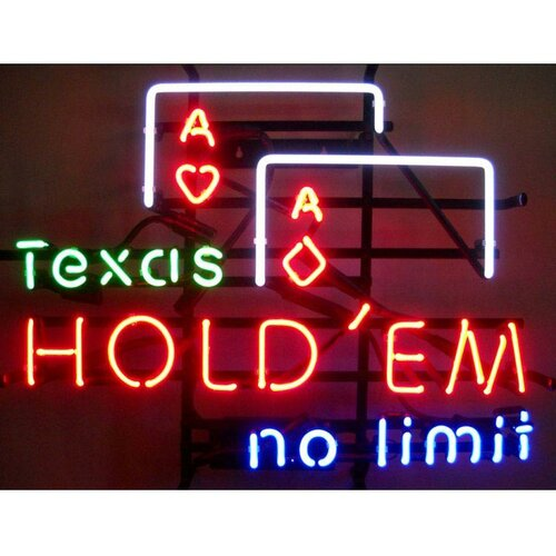 Neonetics Business Signs Texas Hold 'Em No Limit Neon Sign